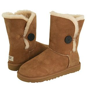 New Womens UGG Boots Bailey Button Chestnut Size 7