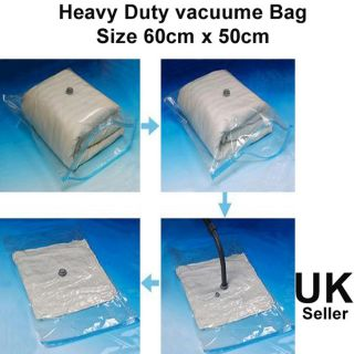 Heavy Duty Large Vacuum Seal Storage Bag Space Saving Cloths Travel