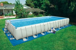 32 x 16 x 52 Ultra Frame Rectangular Swimming Pool Set  54985EG