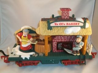 Bright Holiday Express Animated Train Set Bakery Car NBR384 3