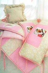 11 Pcs Boutique Baby Girl Flower Bird Crib Bedding Set