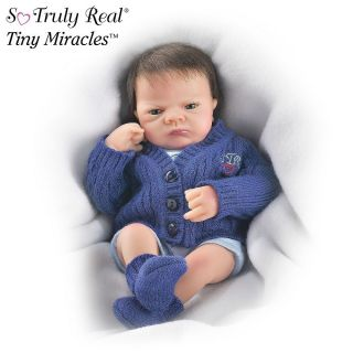 Eye Charlie Miniature Realistic Baby Boy Doll by Ashton Drake