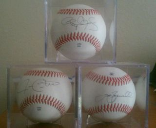 Signed autograph baseballs Roger Clemens, Jeff Bagwell, Jason Castro