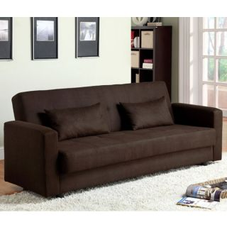 Baileyton Light Espresso Finish Microfiber Futon Sofa Set Hidden