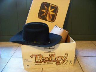 NEW Bailey Lowdown 2X Cowboy Western Hat Size 7 4 In Longhorn