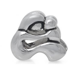 925 Silver Plated Mother Baby European Charm Bead QBKT