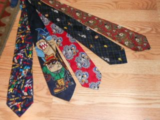 Mickey Mouse Tie Ties Five 5 Looney Tunes Balanchine