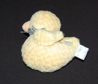 Plush Duck Duckie Rattle Yellow Stuffed Animal Boys Girls Baby Toy