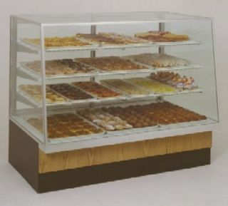 Spartan Dry Bakery Display Case Glass Front Non Refrigerated