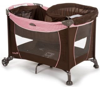 safety 1st travel easy play yard plus baby bassinet new authorized