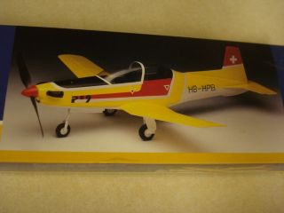 Airsail Pilatus PC9 Porter Balsa Wood Scale Model Airplane Kit