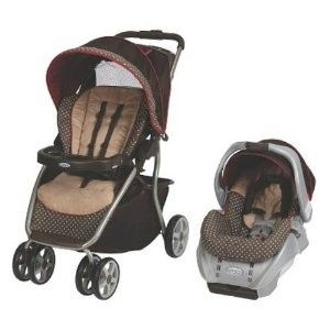 Sealed Graco Dynamo Lite Ride Baby Travel System   Starburst (Brown