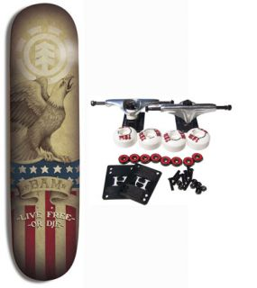 ELEMENT SKATEBOARDS Complete Skateboard BAM MARGERA EAGLE 7.75