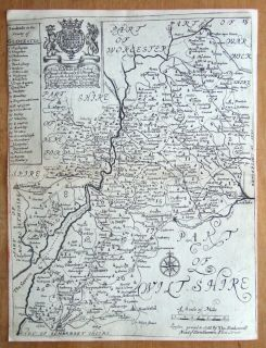 Richard Blome, Thomas Bakewell Original antique map c1735