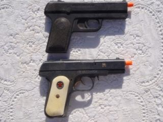 Vintage Hubley Army 45 Bana Special Agent Toy Cap Guns