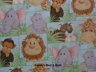 Jungle Zoo Animals Baby Nursery Curtain Valance New