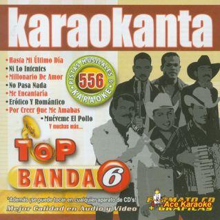 Karaokanta Kar 4556 Top Banda 6 Spanish CDG