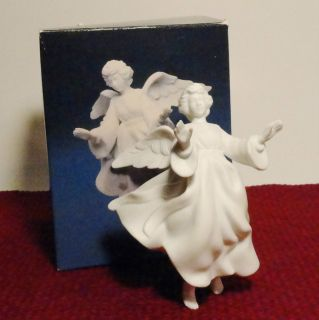 Avon Nativity Collectibles Hanging Flying Angel for Stable White