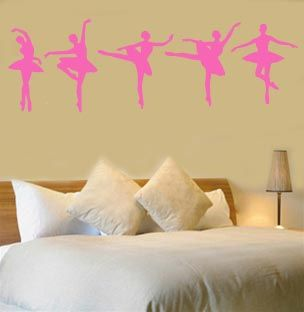 Ballet Dancer Dance Wall Vinyl Mural Art Sticker Decal