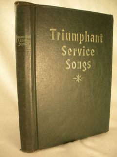 SERVICE SONGS Hymnal Favorite Church Gospel Hymns Songs 1934 HC
