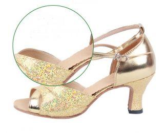 Glitter Women Ballroom Latin Salsa Rumba Samba Jazz Dance Shoes