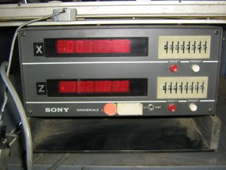 Sony Magnascale Digital Readout Display and Scale DRO