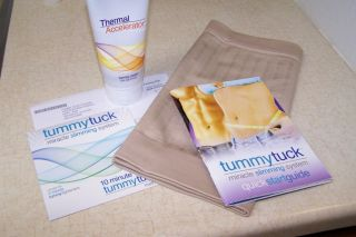 NEW TUMMY TUCK MIRACLE SLIMMING SYSTEM BELT SIZE 3 DVD,Cream, Book