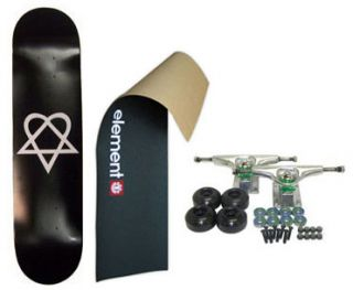 Element Skateboard Logo Grip Heartagram 8 Complete Blk