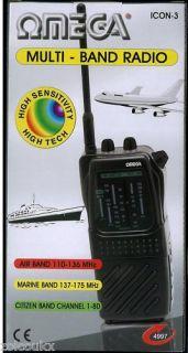 New Omega Multi Band Radio CB FM Air Marine Scanner Etc
