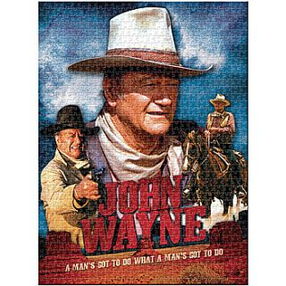 New John Wayne Movie 1000 PC Jigsaw Puzzle 20 x 27 A Mans Gotta Do