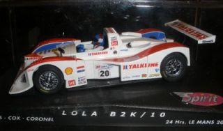 Lola B2K/10 1/32 scale slot car MINT in Box Brand new Spirit