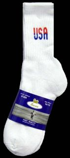 New Wholesale Lot 12 Pairs USA Mens White Tube Socks Size 10 13