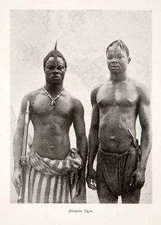 1897 Print Bangala Ngala Bantu Bangla Congo South Sudan Native Tribe