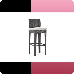 Outdoor Patio Garden Wicker Furniture Bar Stool Chair