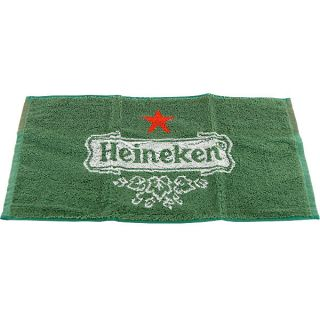 Heineken Branded Bar Towel   Green Beer Logo Spill Towel FREE SHIPPING