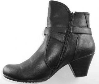 bare traps shoes women s rita booties black with a decorative buckle