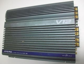 Old School Alpine V12 VRV 1000 2 1 Channel Power Amplifier