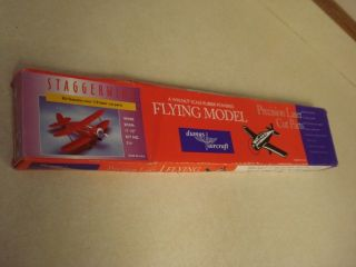 Dumas Staggerwing Balsa Wood Flying Model Airplane Kit Laser Cut Parts