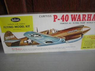Guillows Balsa Wood Plane Kit Curtiss P 40 Warhawk WW11 Military