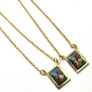 You are bidding on a beautiful Scapular Gold Filled 18k pendant.