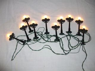 Victorian Christmas Street Lights Lamppost Railroad Village Houses 10