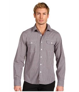 michael kors miller check bias bound pocket shirt $ 95