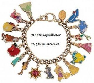 Disney Princess with Friends Items 7 16 PC Charm Bracelet