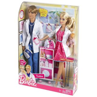 NIB Barbie I Can Be A Doctor Working Together 2 Doll Set by Mattel