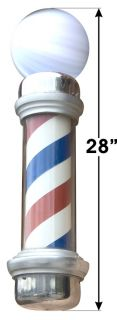 28 Barber Shop Pole Vinyl Sign Salon Sticker Decal
