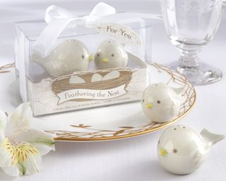 24 Baby Shower Favors Ceramic Birds Salt Pepper Shakers