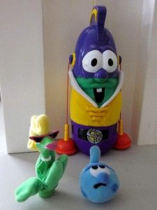 VeggieTales LARRY BOY SUCTION EARS Fisher Price Talking Toy w/ RUMOR