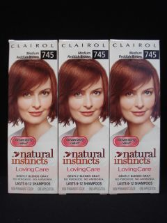 Clairol Natural Instincts Loving Care Hair Color 745 Medium Reddish