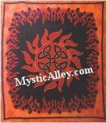 Tribal Sun Rock Band Concert Halloween Party Backdrop Tapestry