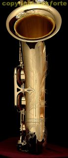 ) SERIE III ENGRAVED CLEAR LACQUERED TENOR SAXOPHONE SAX 64 NEW SAX